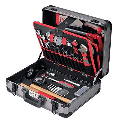 Tixit Aluminium-Werkzeugkoffer WOODY 120-teilig für Holzbearbeitung mit GS und TÜV geprüftem...