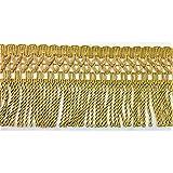 Flecos de pasamanería tapicería y mantas de alto 10 cm - Giallo Oro