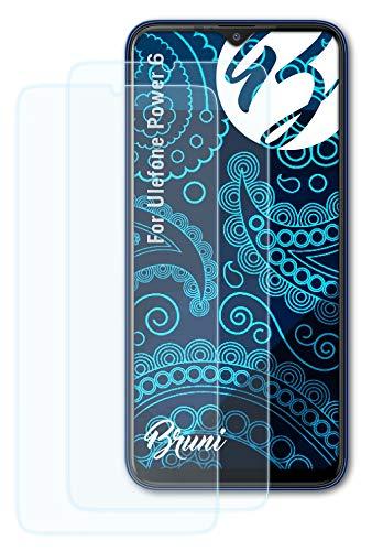 Bruni Schutzfolie kompatibel mit Ulefone Power 6 Folie, glasklare Bildschirmschutzfolie (2X)