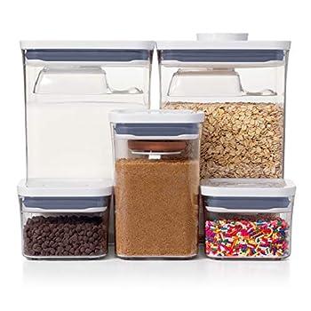 OXO Good Grips 8-Piece Baking Essentials POP Container Set White