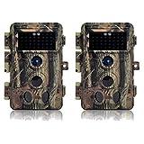 DIGITNOW! Cámaras de Caza 16MP 1080P FHD Impermeable,Gran Angular de 120° y 40pcs IR LED Infrarrojo Visión Nocturna con Hasta 65FT/20m,Sendero Juego Camera, Cazar Vigilancia de la Fauna (2 unidades)