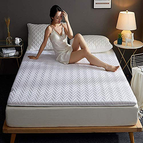 DJQ Foldable Cooling Mat Quilted Futon Mattress Cover Tatami Mat Multipurpose Mat Roll Up Mat Guest Bed Four Seasons Use 135x200cm