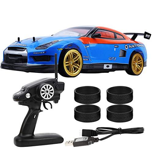 1:10 Coche RC, 2.4G Control Remoto Drift Racing Car RC Modelo Vehículo Juguetes para niños Regalo(Dual Battery )