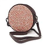 Bolso bandolera para mujer, bolso lateral para viajes de vacaciones de verano de moda círculo bolsas de hombro Sa Na Giraffe Print Terracota