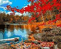子供のための油絵デジタルペイント DIY絵画フィギュア ギフ家の壁アート落書き装飾 40x186cm フレームレスホンギェ山水