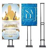 Rack de exhibición de tablero KT, Marco de cartel publicitario, Soporte de cartel de letrero de hierro, Altura ajustable, Soporte de eje de tablero KT para pantalla (Black)