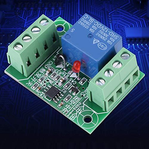 Placa de circuito Relé de circuito biestable fácil de usar, módulo de control de relé de interruptor biestable, para relé electrónico de interruptor de disparo de 12 V CC