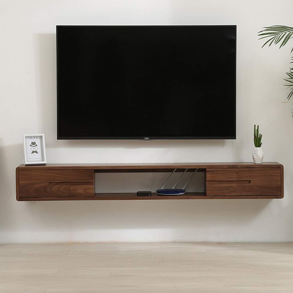 Mueble TV de pared Mueble de pared colgante Estante de la pared Estante flotante Con cajon Set top box enrutador pequeño estante de almacenamiento de artículos electrónicos Consola de TV: Amazon.es: Electrónica