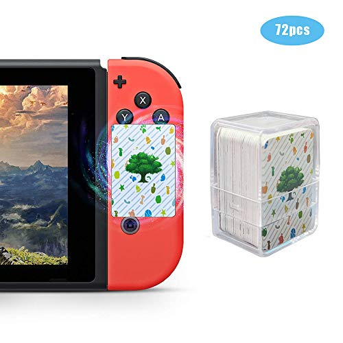 NFC Tag Game Cards for Compatible AC Switch/Switch Lite/Wii U - 72 PCS Mini Cards with Crystal Storage Box