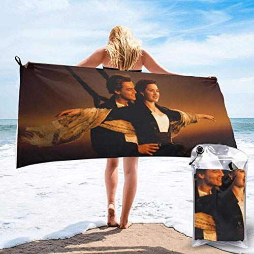 chenjian Titanic Badetuch Quick Dry Soft Beach Badetücher für Reisen Camping Gym Pool Beach Chairs Badetuch