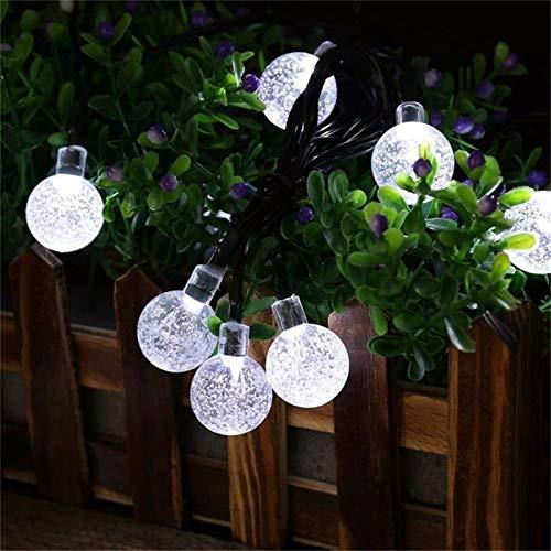 Luces de cadena solar 5M 20leds secuencia solar Luces al aire libre Garland Hada de Iluminación en cubierta patio al aire libre del césped del jardín del banquete de boda de Navidad