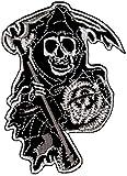 fvlmre Biker Chopper Sons of Anarchy MC Totenkopf Motorrad Aufnäher Bügelbild Aufbügler Iron on...