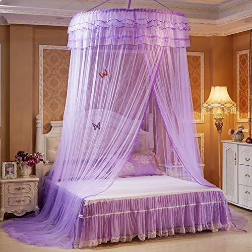GBB Farbe Moskitonetz 1/1,2/1,8 m Doppelbett Runde Bettdecke Erwachsene Bettdecke Kuppel Moskitonetz 1,5 m (5 Fuß) Bett