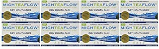 MighTeaFlow Spearmint Dry Mouth Chewing Gum (Case of 8 Packs) by Camellix