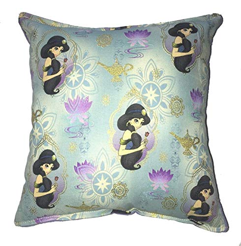 Jasmine Pillow Aladdin Princess Jasmine Pillow All Our Pillows Are Handmade Hypoallergenic Cotton with Flannel Backing Ideal for Gift and Multiple Uses