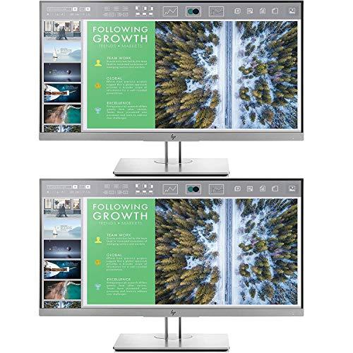 HP EliteDisplay E243 23.8-Inch Screen LED-Lit 2-Pack Monitor Silver (1FH47A8#ABA)