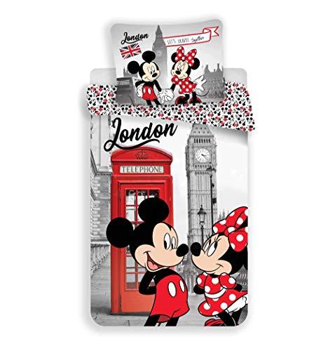 Mickey y Minnie London - Juego de cama infantil
