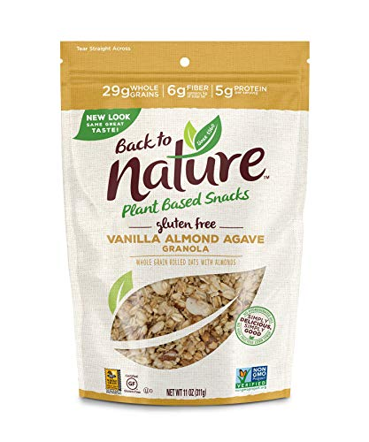 Back to Nature Gluten Free Granola, Non-GMO Vanilla Almond Agave, 11 Ounce (Packaging May Vary)