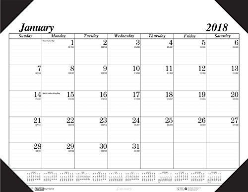 House of Doolittle 2018 Monthly Desk Pad Calendar Refill, Economy, HOD124 Refill, 22 x 17 Inches, January - December (HOD126-18)