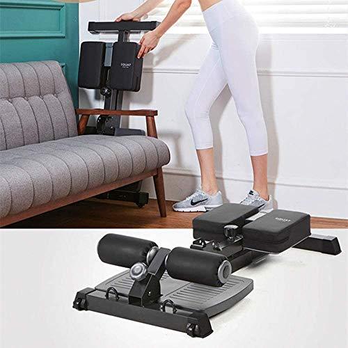 XINTONGLO Push-Ups Squat Sissy Squat-Maschine, Multi-Funktions-Fitnessgeräte, Rund-Leg-Core-Trainingsgeräte für Bauch-Übung, Schwarz,Schwarz