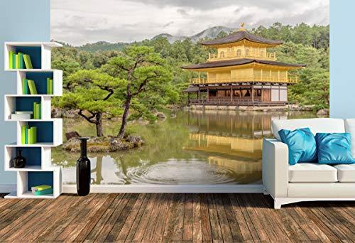 Premium Foto-Tapete Goldener Pavillon Tempel: Kinkaku-ji Kyoto (versch. Größen) (Size L | 372 x 248 cm) Design-Tapete, Wand-Tapete, Wand-Dekoration, Photo-Tapete, Markenqualität von ERFURT
