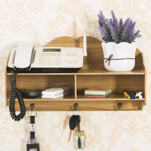 YUXO Wandplank, wandplank, wandplank, wand-ladekast, woondecoratie, kledinghaken, display opbergkast