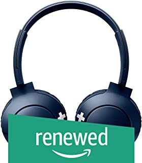 (Renewed) Philips SHB3075BL/00 Wireless On-Ear Headphones with Mic (Blue)
