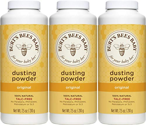 Burt's Bees Baby 100% Natural Dusting Powder, Talc-Free Baby Powder - 7.5 Ounce Bottle (Pack of 3)