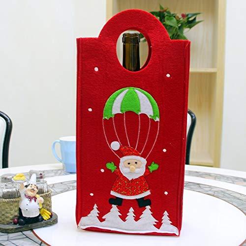 Ebogor de Botella de Navidad Bordado muñeco de Nieve de Santa Verticle Tipo de Vino Bolsa, Color al Azar de Entrega, tamaño: 31 * 17 * 7cm /