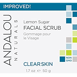 Andalou Naturals Clear Skin Lemon Sugar Facial Scrub, 1.7 Ounces