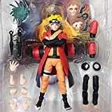 XTT Naruto Action Figure for Boys : SHF Three Generations Uzumaki Naruto Models Character Toys Decoration Statue Anime Collection- Kids Birthday Game Gifts A