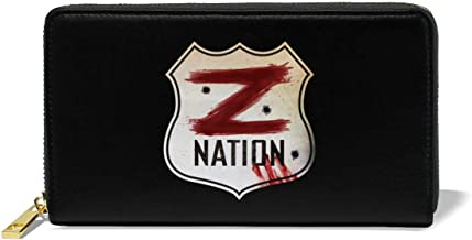 Leather Wallet For Women Slim Purse Giacomo Badali Mens Z Nation Vs TWD Logo