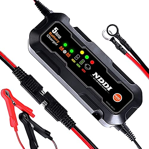 NDDI Car Battery Charger, 6V 12V 5A Quick Smart Trickle Battery Charger for...