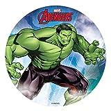 Dekora- Decoracion Tartas de Cumpleaños Infantiles en Disco de Oblea de Hulk-20 cm (114402)