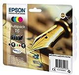 Epson 16 Pack de 4 Cartouches d'encre d'origine Assortis Amazon Dash Replenishment...