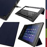 igadgitz Premium Bleu en Cuir PU Smart Cover Étui Housse Case pour Sony Xperia Z2 Tablet SGP511 10.1' avec Support Multi-Angles +...