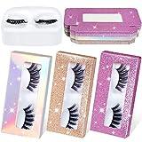 TOROKOM 60Pcs Empty False Eyelash Boxes with Eyelash Storage Kit, 30 Pcs Fake Lashes Case Holder Eyelash Storage Case with 30 Pcs False Eyelash Tray for Women Girl Makeup Tool