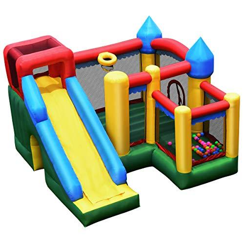 COSTWAY Castillo Hinchable Tobogán para Niños Parque Infantil Centro de Actividades para niños Inflable