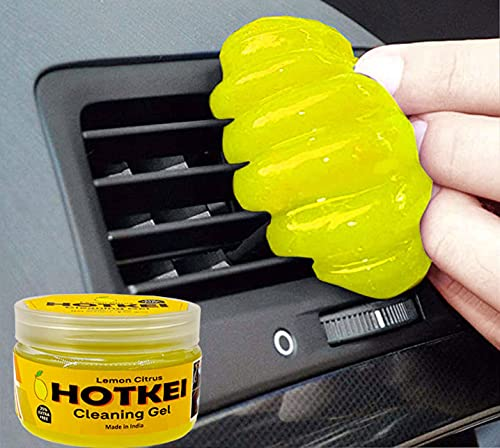 HOTKEI Lemon Scented Multipurpose Car Interior Ac Vent Keyboard Laptop Dirt Dust Cleaner Cleaning Gel Kit Jelly for Car Dashboard Keyboard Computer Electronics Gadgets Cleaning Cleaner Kit
