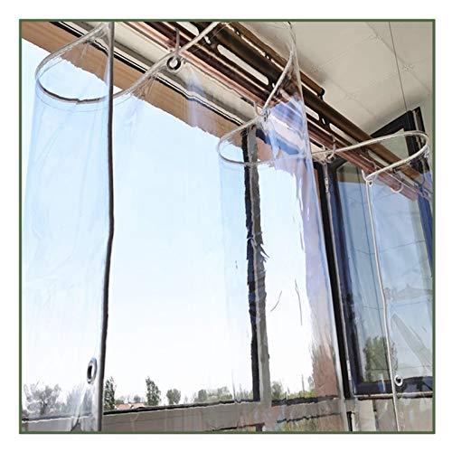 Transparente Lona De Protección Toldo QIANDA De Múltiples Fines PVC Espesar Lona Cortina Hidratante Metal Ojal Antióxido para Balcón Patio, Personalizable (Color : A, Size : 2.5mx4.5m)