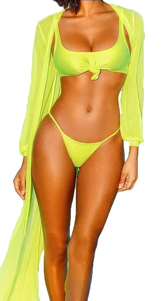 ハンバーガー証言するクラフトセクシーな底の女性の3つの部分と夏のビーチビキニセット水着をカバー