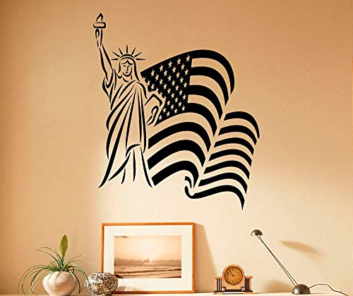 USA Vlag Muursticker Vinyl Stickers Amerikaanse Landmark Vlag Thuis Interieur Ontwerp Woonkamer Muurstickers Slaapkamer Decor