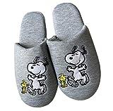 Peanuts Snoopy Zapatillas de mujer, con estampado bordado suave acolchado para el pie, color gris, color Gris, talla 36/37 EU