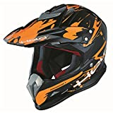 Held Holeshot Dekor - Casco de cross, color negro y naranja, talla M