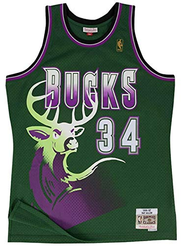 Milwaukee Bucks Ray Allen 1996 Alternate Swingman Jersey (Medium)