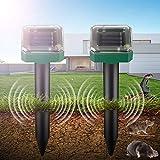Repellente Talpa,Ultrasuoni Ad Energia Solare per Repellente per roditori da Giardino Energia Solare Gatti Repellente Repeller di Animali energia Solare ad ultrasuoni Impermeabile Prato