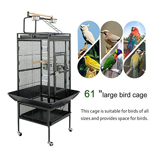 "ZENY 61"" Pet Bird cage Large Play Top Parrot Cockatiel Cockatoo Parakeet Finch Pet Supply"