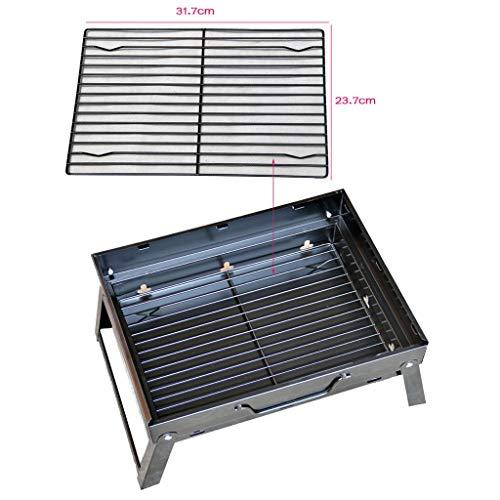 51YliP1Iz1L - Grills Kochplatten Holzkohlegrill im Freien beweglichen Faltbarer Barbecue Gratis Maschendraht Grillzubehör (Size : L)