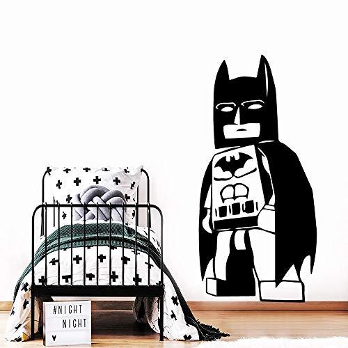 Pegatinas de pared bloques de construcción decoración de murciélago de pared humana para habitación de niños bloques de construcción decoración de murciélago humano