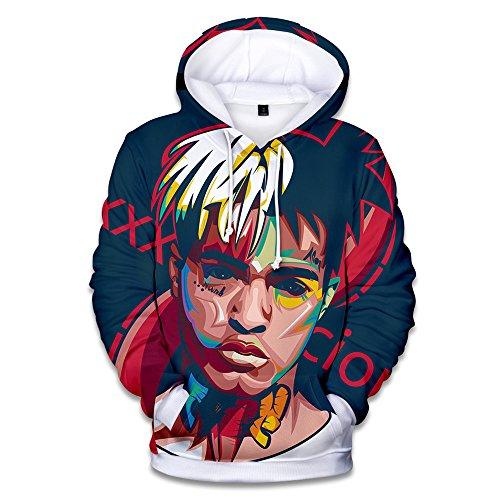 VOSTE Singer Hoodie 3D Printed Hooded Pullover Sweatshirt Jacket T-Shirt (Large, Color 1)